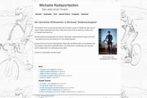 Screenshot von Michaels Webseite