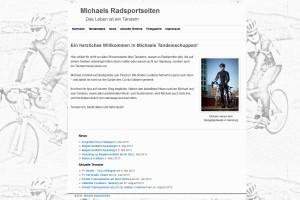 Screenshot von Michaels Webseite